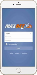 Maxbet mobile guide step 1
